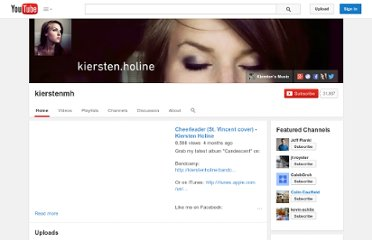 http://www.youtube.com/user/kierstenmh