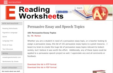 help me essays what topic to choose for political persuasive essay forum