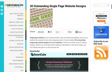 http://www.webdesigndev.com/inspiration/30-outstanding-single-page-website-designs
