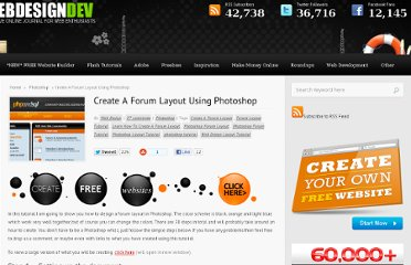 http://www.webdesigndev.com/photoshop/create-a-forum-layout-using-photoshop