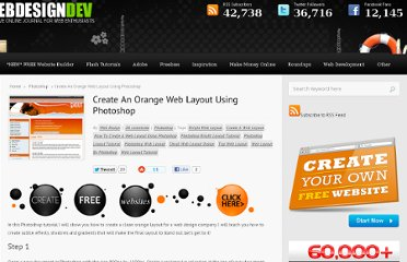 http://www.webdesigndev.com/photoshop/create-an-orange-web-layout-using-photoshop