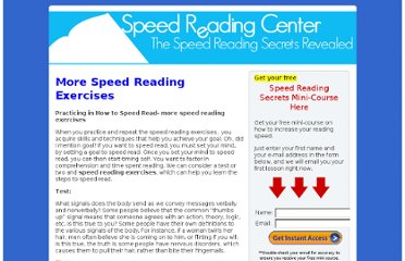 http://www.speedreadingcenter.com/more-speed-reading-exercises/