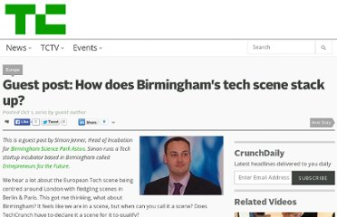 http://techcrunch.com/2010/10/01/guest-post-how-does-birminghams-tech-scene-stack-up/