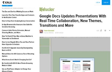 http://lifehacker.com/5850902/google-docs-updates-presentations-with-real+time-collaboration-new-themes-transitions-and-more