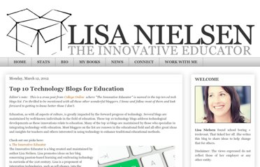 http://theinnovativeeducator.blogspot.com/2012/03/top-10-technology-blogs-for-education.html