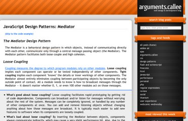 http://arguments.callee.info/2009/05/18/javascript-design-patterns--mediator/
