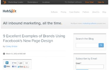 http://blog.hubspot.com/blog/tabid/6307/bid/31752/9-Excellent-Examples-of-Brands-Using-Facebook-s-New-Page-Design.aspx