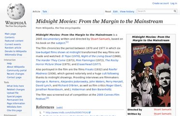 http://en.wikipedia.org/wiki/Midnight_Movies:_From_the_Margin_to_the_Mainstream