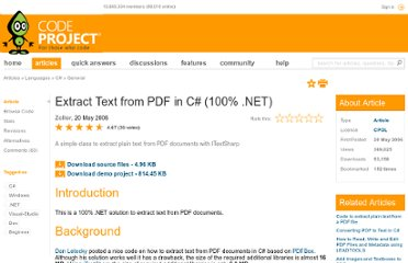 http://www.codeproject.com/Articles/14170/Extract-Text-from-PDF-in-C-100-NET
