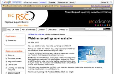 http://www.jiscrsc.ac.uk/southwest/news/2011/mar/webinar-recordings-now-available.aspx