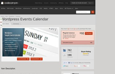 http://codecanyon.net/item/wordpress-events-calendar/910386