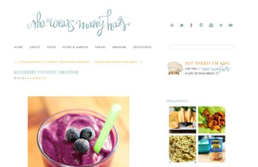 http://shewearsmanyhats.com/2012/01/blueberry-coconut-smoothie/