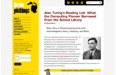 http://www.brainpickings.org/index.php/2012/03/12/alan-turing-reading-list/
