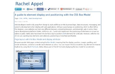 http://rachelappel.com/a-guide-to-element-display-and-positioning-with-the-css-box-model