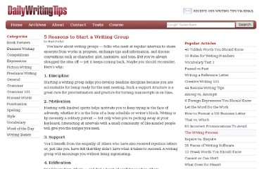 http://www.dailywritingtips.com/5-reasons-to-start-a-writing-group/