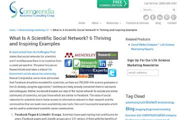 http://comprendia.com/2012/03/12/what-is-a-scientific-social-network-6-examples/