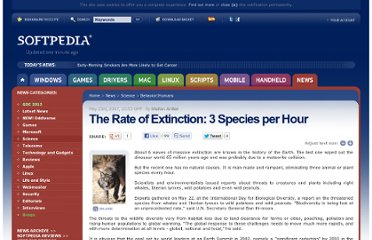 http://news.softpedia.com/news/The-Rate-of-Extinction-3-Species-per-Hour-55411.shtml