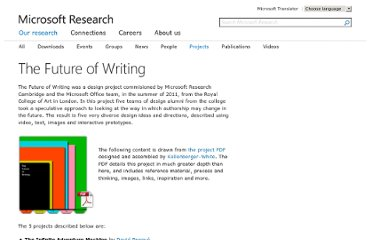 http://research.microsoft.com/en-us/projects/thefutureofwriting/