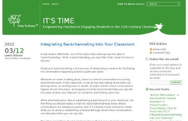 http://blog.timetoknow.com/2012/03/12/integrating-backchanneling-into-your-classroom/