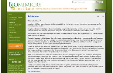 http://www.biomimicryinstitute.org/resources/biomimicry-design-portal.html