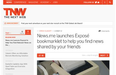 http://thenextweb.com/apps/2012/03/12/news-me-launches-expose-bookmarklet-to-help-you-find-news-shared-by-your-friends/