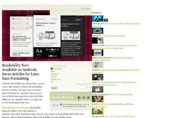 http://lifehacker.com/5892671/readability-now-available-on-android-saves-articles-for-later-sans-formatting