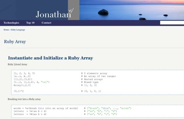 http://www.jonathanhui.com/ruby-array