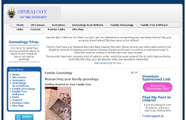 http://www.genealogyontheinternet.com/family-genealogy
