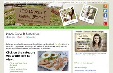 http://www.100daysofrealfood.com/real-food-resources/