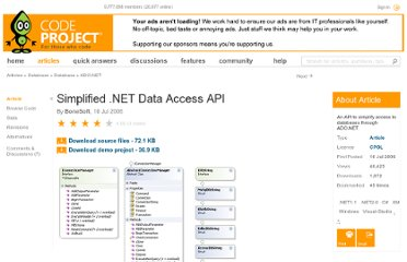 http://www.codeproject.com/Articles/14735/Simplified-NET-Data-Access-API