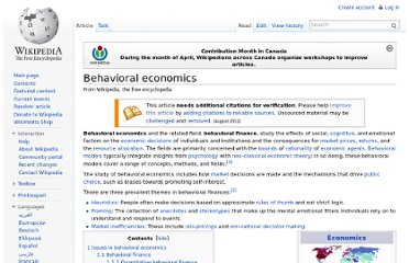 http://en.wikipedia.org/wiki/Behavioral_economics