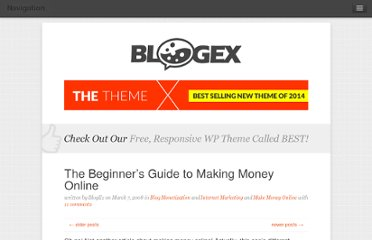 http://bloggingexperiment.com/archives/the-beginners-guide-to-making-money-online.php
