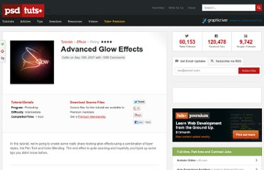 http://psd.tutsplus.com/tutorials/tutorials-effects/advanced-glow-effects/