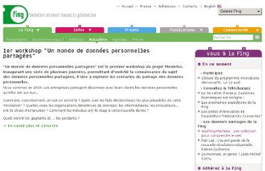 http://www.fing.org/?1er-workshop-Un-monde-de-donnees