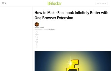http://lifehacker.com/5892826/how-to-make-facebook-infinitely-better-with-one-browser-extension