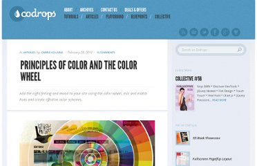 http://tympanus.net/codrops/2012/02/28/principles-of-color-and-the-color-wheel/