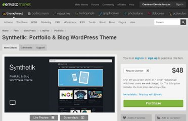 http://themeforest.net/item/synthetik-wordpress-theme/98244
