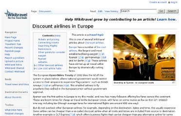 http://wikitravel.org/en/Discount_airlines_in_Europe