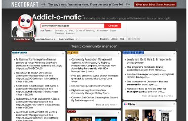 http://addictomatic.com/topic/community+manager