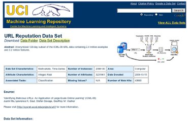 http://archive.ics.uci.edu/ml/datasets/URL+Reputation
