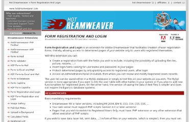 http://www.hotdreamweaver.com/form-registration-and-login
