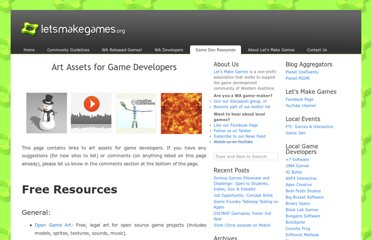 http://letsmakegames.org/resources/art-assets-for-game-developers/