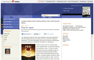 http://blog.christianitytoday.com/ctentertainment/2012/03/pray-for-japan-1.html
