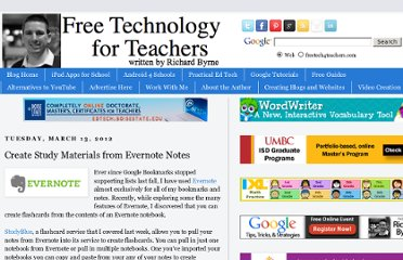 http://www.freetech4teachers.com/2012/03/create-study-materials-from-evernote.html
