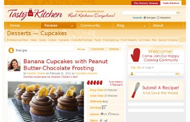 http://tastykitchen.com/recipes/desserts/banana-cupcakes-with-peanut-butter-chocolate-frosting/