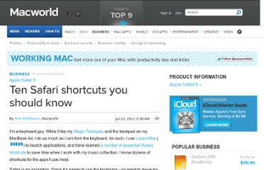 http://www.macworld.com/article/1160951/safari_shortcuts.html