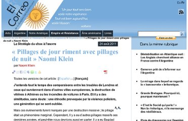 http://www.elcorreo.eu.org/Pillages-de-jour-riment-avec-pillages-de-nuit-Naomi-Klein