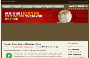 http://www.open-source-developers.com/blog/popular-open-source-developer-tools