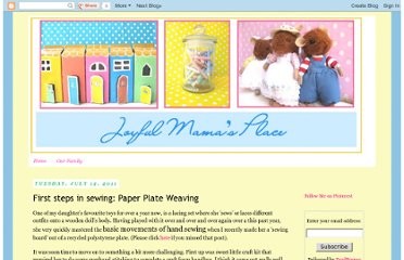 http://joyfulmamasplace.blogspot.com/2011/07/first-steps-in-sewing-paper-plate.html