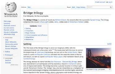 http://en.wikipedia.org/wiki/Bridge_trilogy